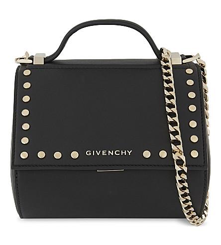 GIVENCHY Pandora Box studded mini leather shoulder bag (Black