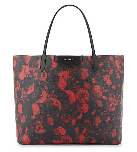 GIVENCHY Antigona large floral shopper bag (Red