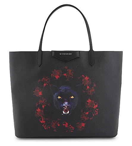 GIVENCHY Antigona jaguar large leather shopper (Black
