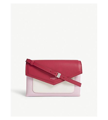 GIVENCHY Duetto leather cross-body bag (Bright+pink