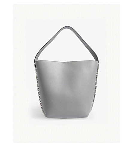 GIVENCHY 无限皮桶袋 (珍珠 + 灰色
