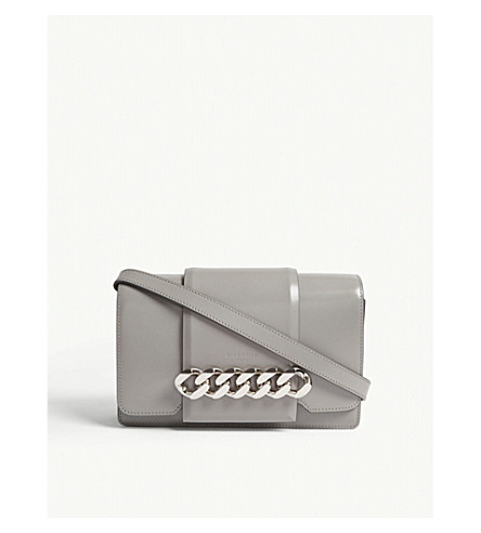 GIVENCHY Infinity leather cross-body bag (Pearl+grey