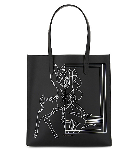 GIVENCHY Stargate Bambi leather shopper bag (Black+white