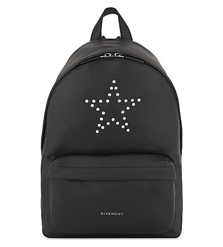 GIVENCHY Star leather backpack (Black