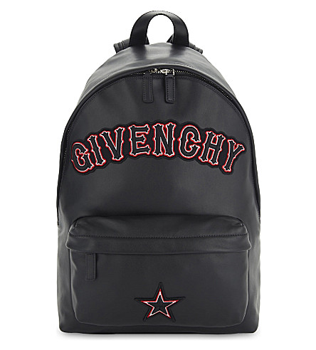 GIVENCHY Embroidered leather backpack (Black