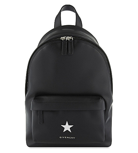 GIVENCHY Small star leather backpack (Black/white