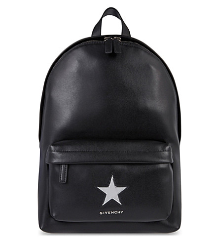 GIVENCHY Small star leather backpack (Black