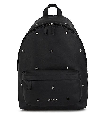 GIVENCHY Cross small leather backpack (Black