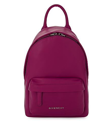 GIVENCHY Nano leather backpack (Fuschia