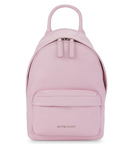 GIVENCHY Classic nano leather backpack (Pastel pink