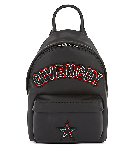 GIVENCHY Gothic logo nano leather backpack (Black