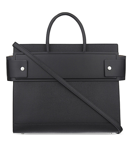 GIVENCHY Horizon medium grained leather tote (Black