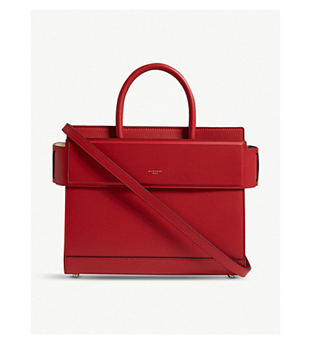 Bright small small Horizon leather GIVENCHY red Horizon bag shoulder GIVENCHY shoulder leather Bright bag 8RSH7q0