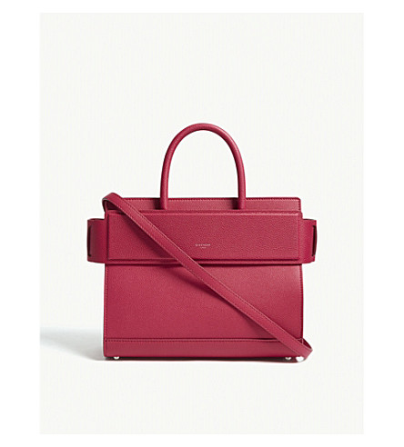 GIVENCHY Small Horizon leather tote (Fuschia