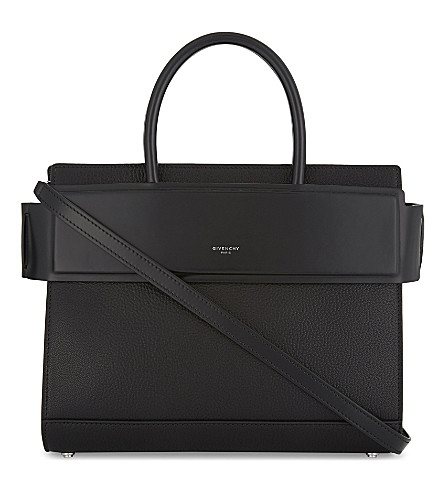 GIVENCHY Horizon small leather tote (Black