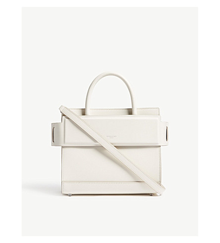 GIVENCHY Horizon mini leather cross-body bag (Off+white