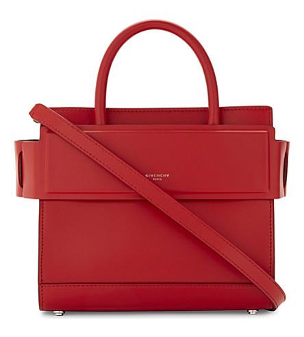 GIVENCHY Mini Horizon leather cross-body bag (Medium red
