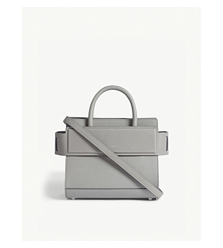 GIVENCHY Mini Horizon leather tote (Pearl+grey