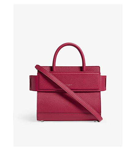 GIVENCHY Mini Horizon leather tote (Fuschia