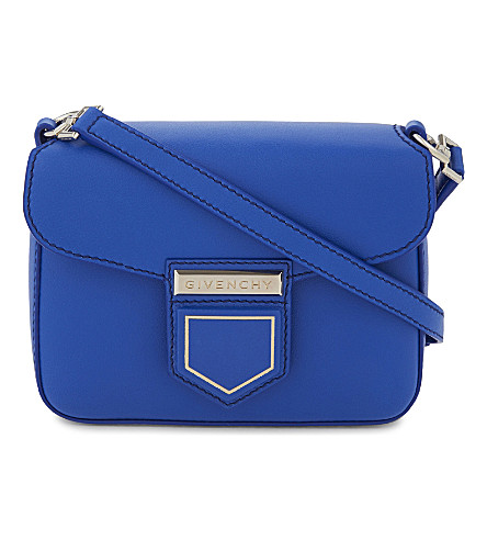 GIVENCHY Nobile mini leather cross-body bag (Indigo blue