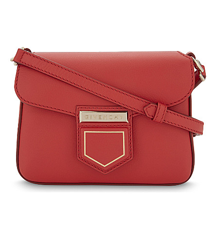GIVENCHY Nobile mini leather cross-body bag (Medium red