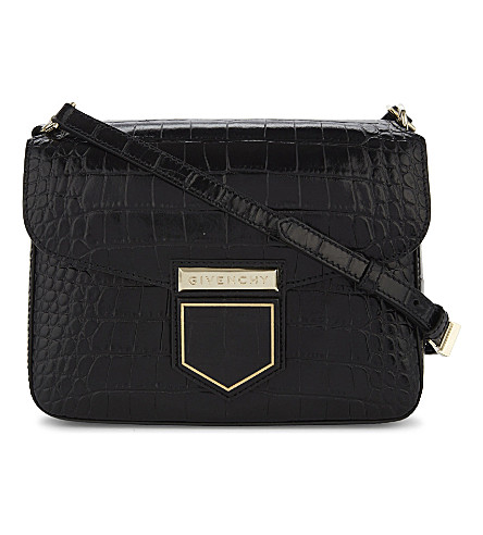 GIVENCHY Nobile small crocodile-embossed leather cross-body bag (Black
