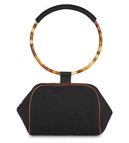 GIVENCHY Eclipse bracelet leather clutch (Black