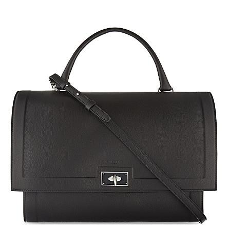 GIVENCHY Sharktooth medium leather shoulder bag (Black