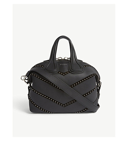GIVENCHY Nightingale small leather tote (Black