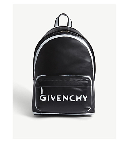 GIVENCHY Graffiti leather backpack (Black