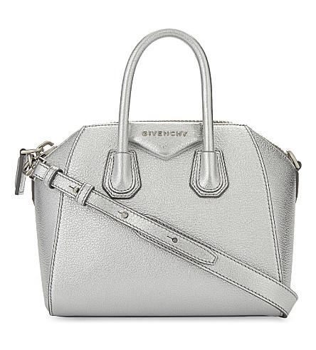 GIVENCHY Antigona mini metallic leather shoulder bag (Silver