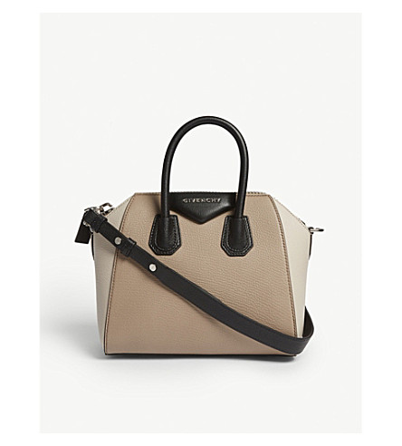 GIVENCHY Antigona leather tote (Beige+linen