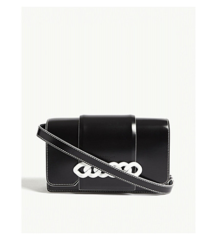 GIVENCHY Infinity leather cross-body bag (Black+white
