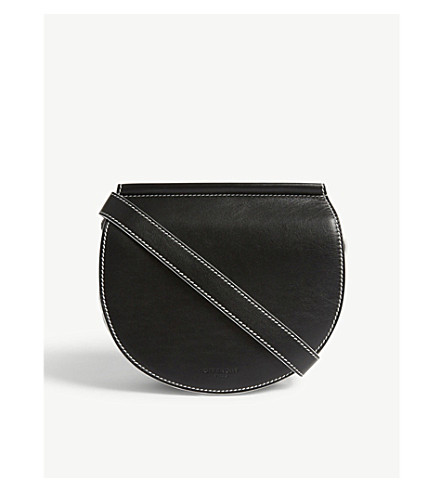GIVENCHY Infinity mini leather saddle bag (Black+white