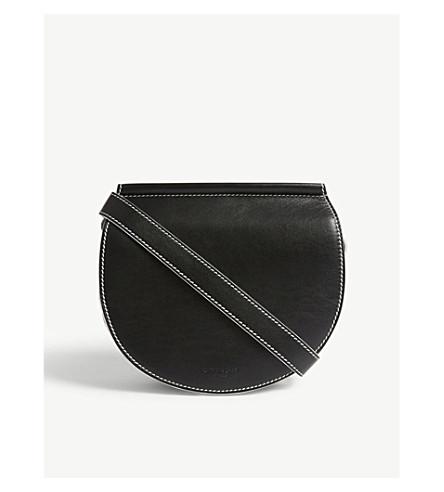GIVENCHY Infinity mini leather saddle bag (Black+white