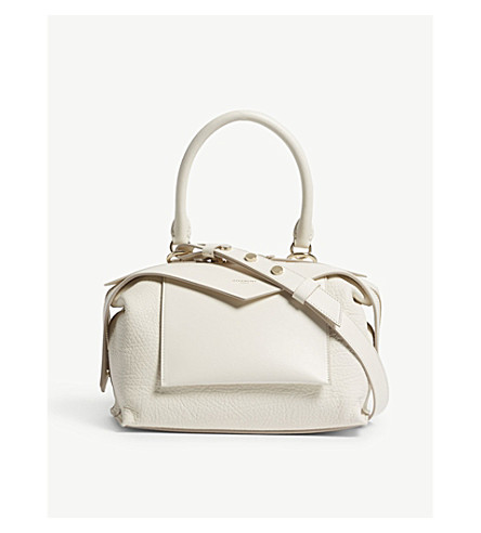 GIVENCHY Sway leather shoulder bag (Off+white