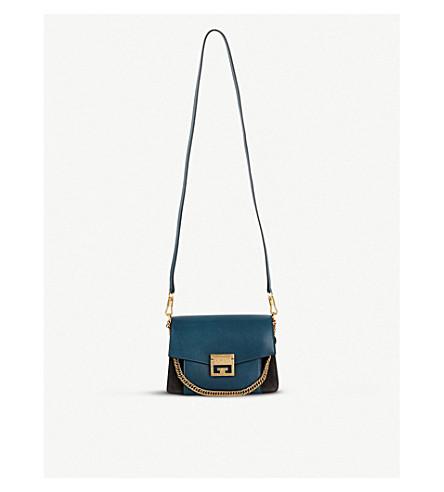 GIVENCHY GV3 suede leather shoulder bag (Prussian+blue/grey/gold