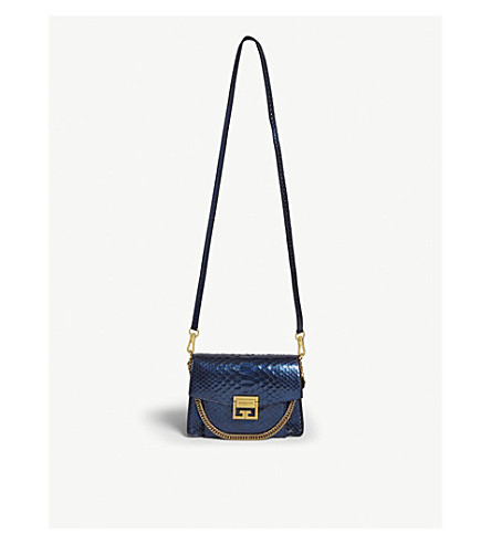 GIVENCHY GV3 python-leather bag (Dark blue