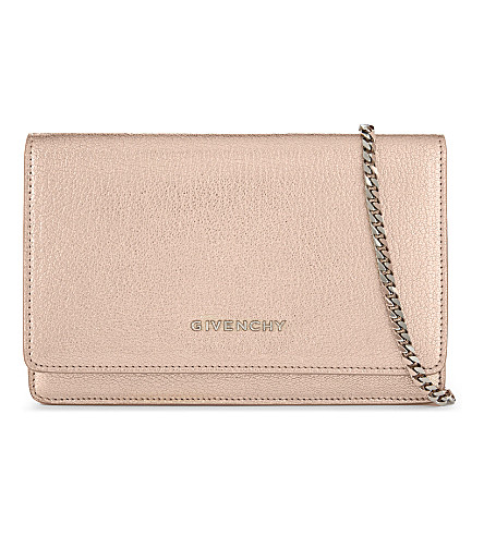 GIVENCHY Pandora leather cross-body bag (Rose+gold