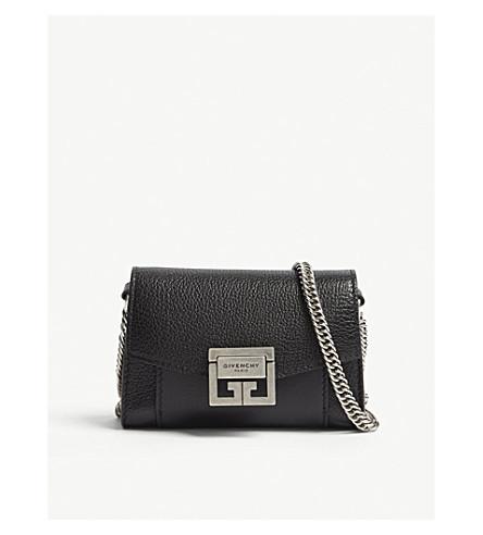 GIVENCHY GV3 Nano leather belt bag (Black