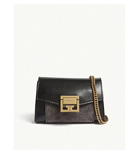 GIVENCHY GV3 Nano leather belt bag (Black/gold