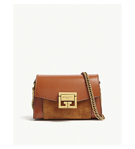 GIVENCHY GV3 Nano leather belt bag (Chestnut