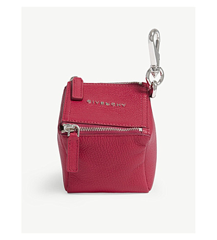 GIVENCHY Cube leather pouch (Fuschia