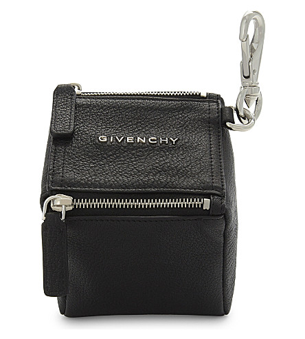 GIVENCHY Logo leather pouch (Black