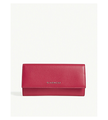 GIVENCHY Grained leather wallet (Fuschia