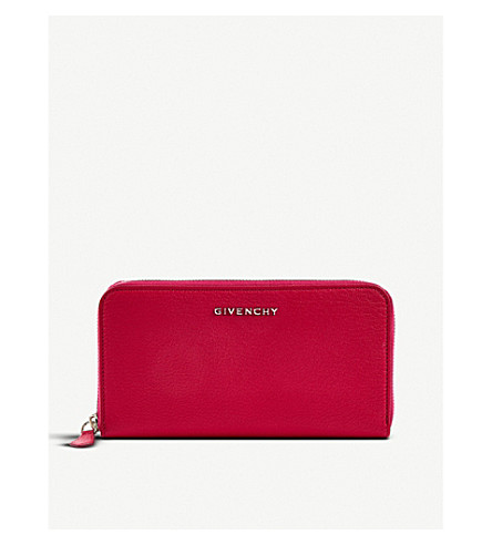 GIVENCHY Grained leather continental wallet (Fuschia
