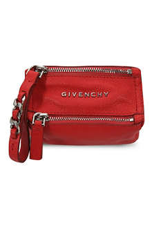 GIVENCHY Mini wristlet leather coin pouch