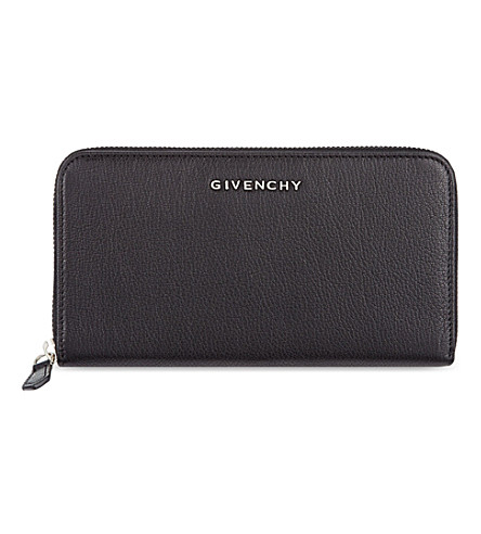 GIVENCHY Zip around leather wallet (Black