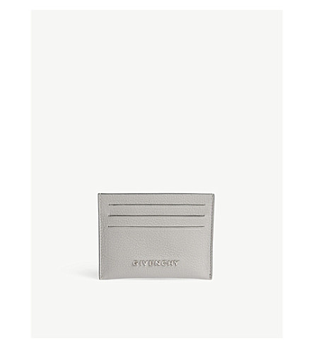 GIVENCHY Leather card holder (Pearl+grey