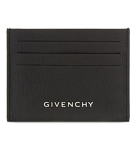 GIVENCHY Grained leather card holder (Black